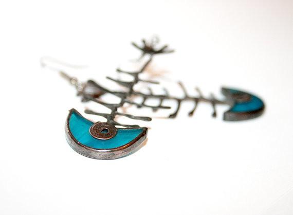 artkvarta - fish skeleton earrings