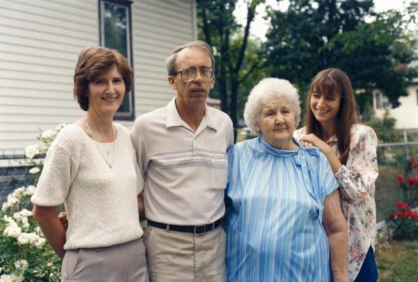 carol fletcher - a quiet joke with grandmother