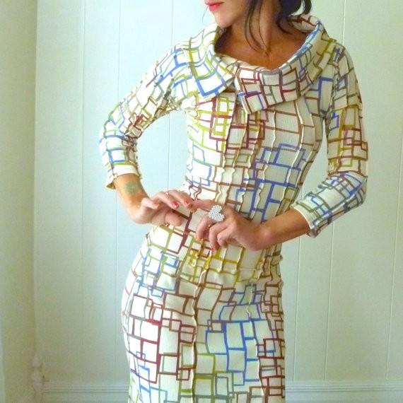 iheartfink - chain of comman - cowl dress