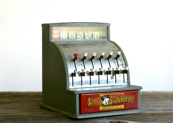 motherlovingvintage - vintage toy cash register