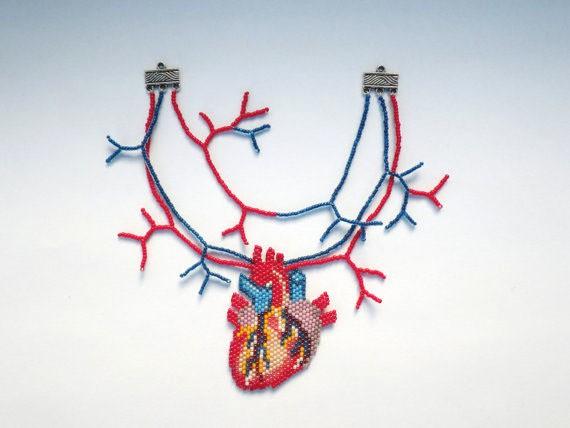 nepinka - tiny heart - neckpiece