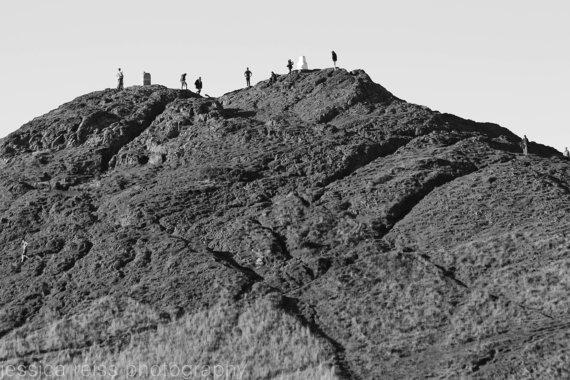 jessica reiss - hikers on a mountain - Edinburgh
