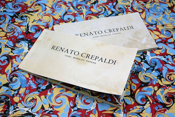 renato crepaldi - book of handmarbled papers