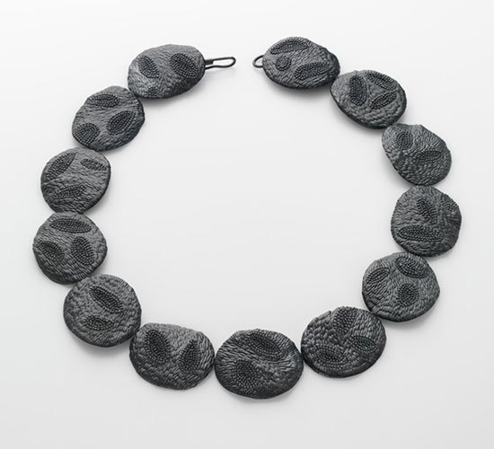 Julie Blyfield - black fossil neckpiece