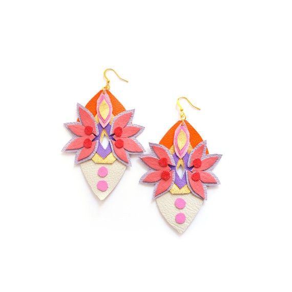 boo and boo factory - spike faux rhinestone earrings