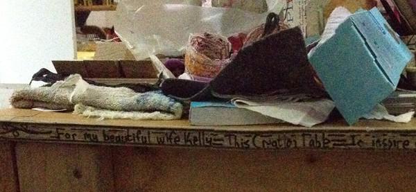 kelly darke - studio table (detail)