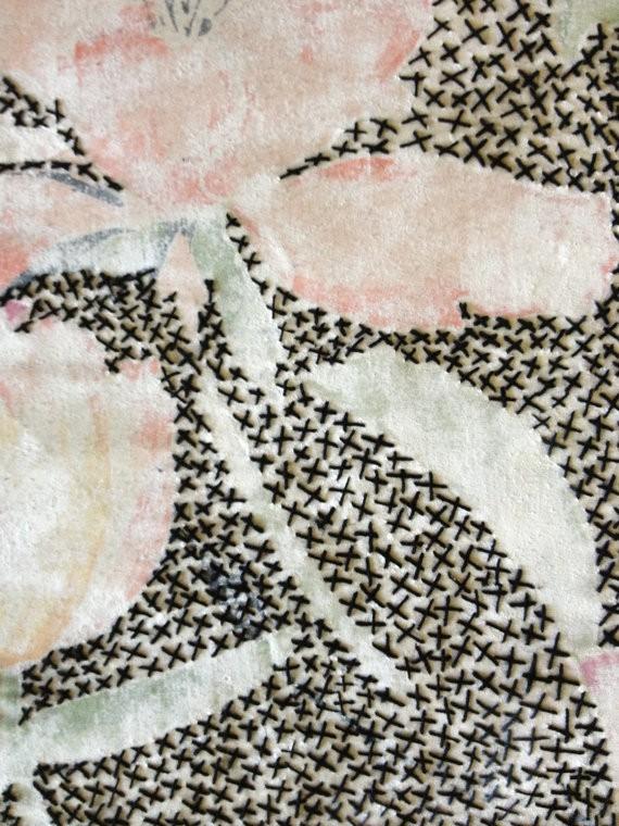 kelly darke - stitched vintage sheet 2 (detail)