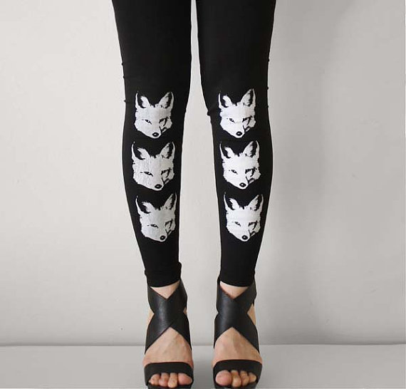 rabbit and eye - 3 clever foxes leggings