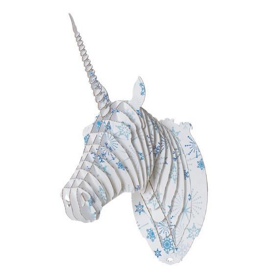 cardboard safari - merlin jr - stars and snowflakes unicorn