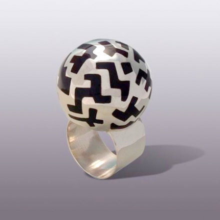 moshiko - spherical maze ring