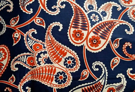 a piece of cloth - vintage paisley from her extensive collection