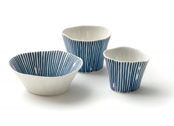 sandra bowkett - cobalt stripe vessels