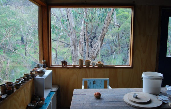 sandra bowkett - studio view