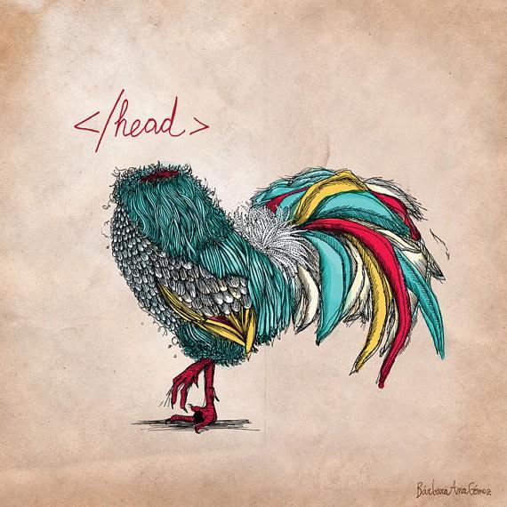 headless chicken by barbaranashop on etsy
