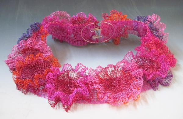 Arline Fisch - coral wreath necklace