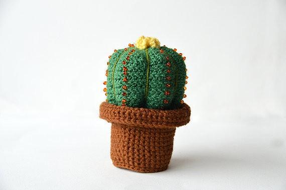 cactus crochet pattern - vliegendehollander.etsy.com
