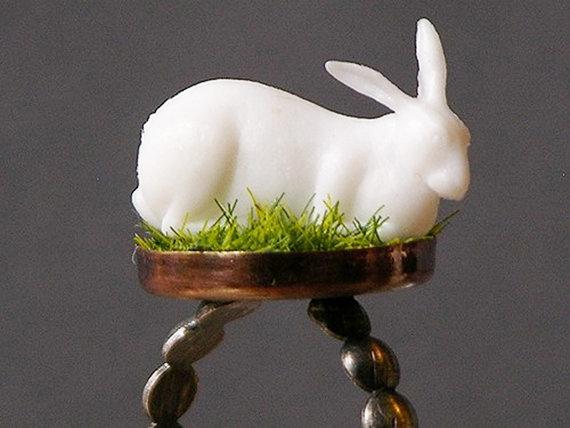 doll disaster design - albino rabbit ring