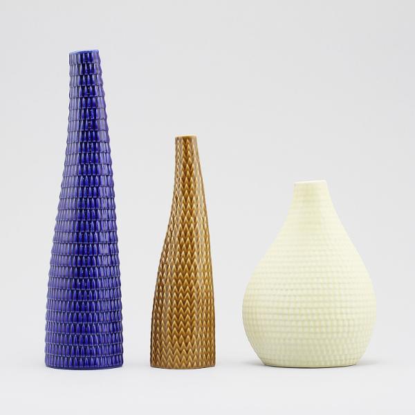 stig lindberg - reptil - vases