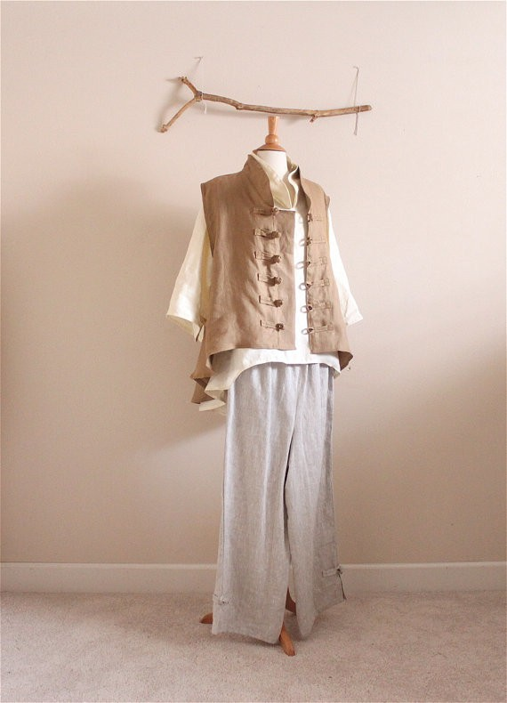anny schoo - linen jacket shirt and pants2
