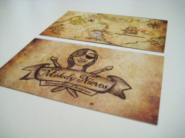 Melody Nieves - pirate-style treasure map
