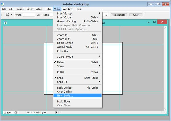 inserting guidelines in Photoshop