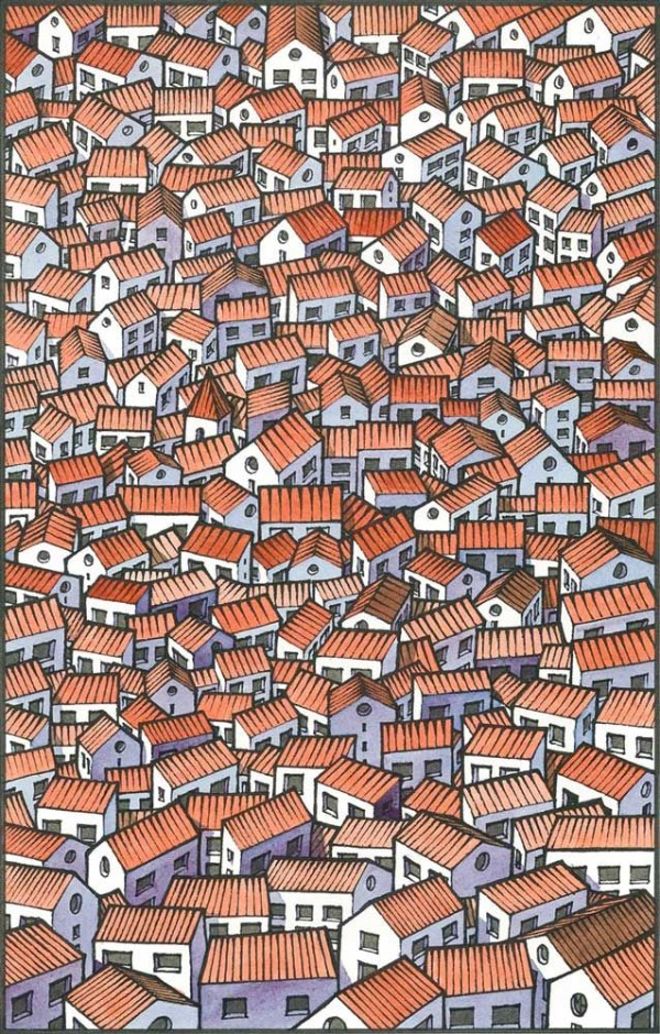 little houses by freekhand via society6