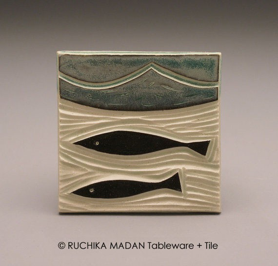 ruchika - tile - two fish
