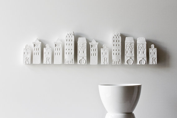 poast - porcelain cityscape - wall installation