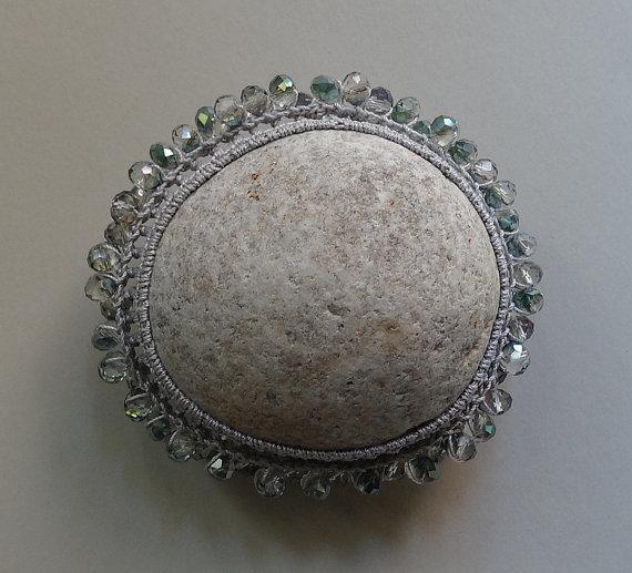 monicaj - light grey with glass beads