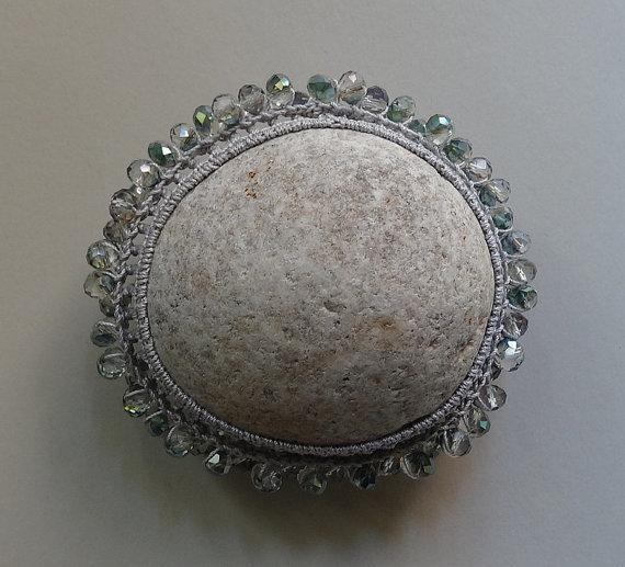 monicaj - light grey with glass beads