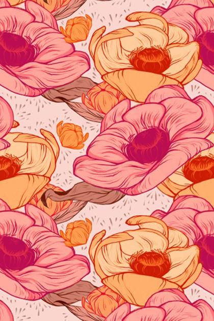 emily julstrom - magenta flowers