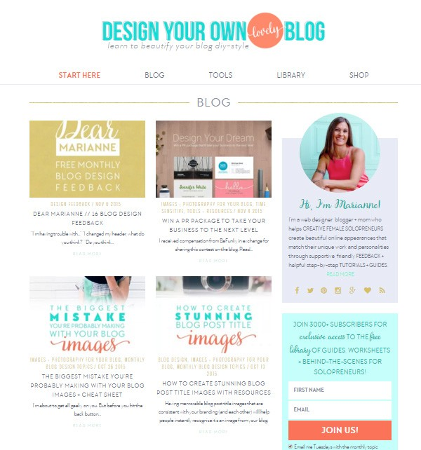 Design Your Own (Lovely) Blog